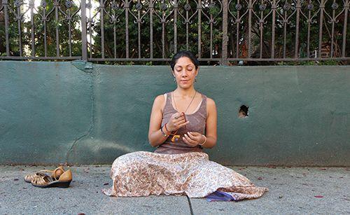 <strong>A sidewalk meditation.</strong>