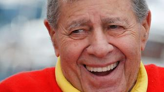 """Cast member Jerry Lewis poses during a photocall for the film """"Max Rose"""" at the 66th Cannes Film Festival in Cannes May 23, 2013.                   REUTERS/Regis Duvignau (FRANCE  - Tags: ENTERTAINMENT HEADSHOT)"""