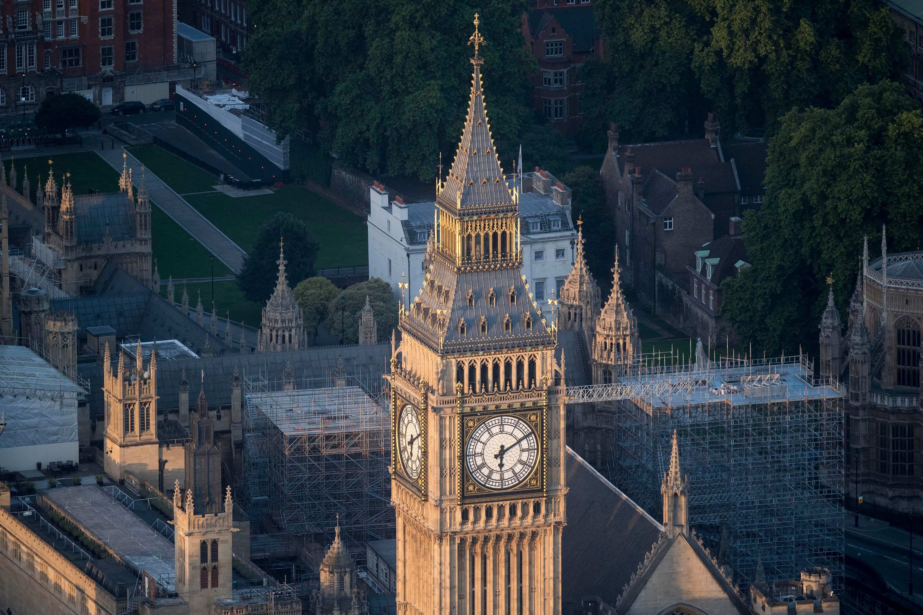 Elizabeth Tower, which houses Big Ben, at the House of Commons in Westminster, London, which will be...