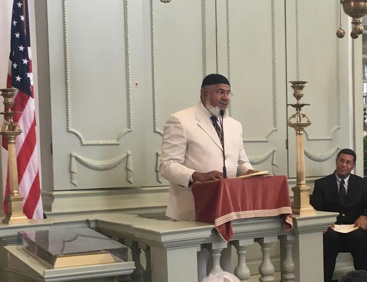 Imam Farid Ansari of the Muslim American Dawah Center of Rhode Island.