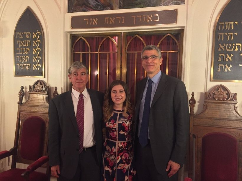 Rabbis Tom Gutherz and Rachel Schmelkin of Congregation Beth Israel in Charlottesville, VA with Union for Reform Judaism Pres