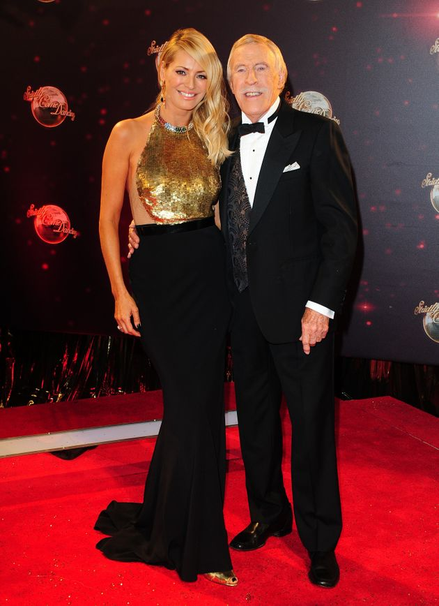 Sir Bruce with his former 'Strictly' co-host Tess