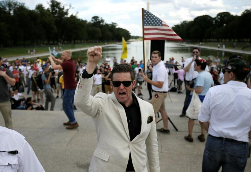 Who are the Alt Right Leaders. Richard Spencer (pictured in white suit jacket and shades)