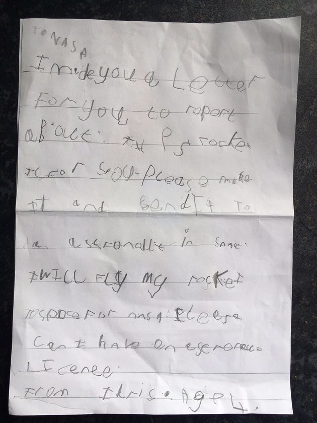 Five-Year-Old Boy Sent A Letter And Rocket Design To NASA And Was Overjoyed With The