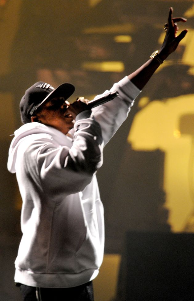 Jay-Z performing at V