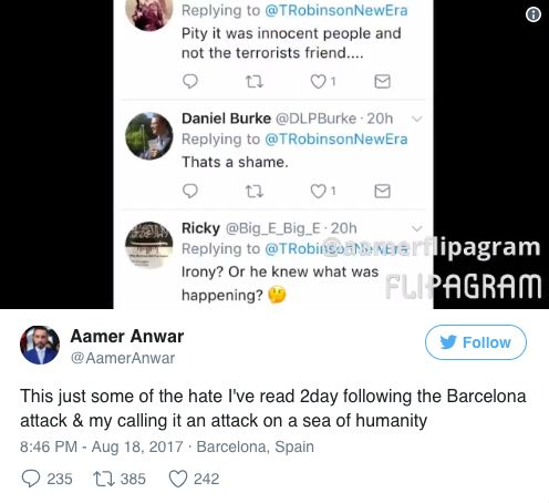 Far-Right Condemned For 'Sickening' Trolling Of Human Rights Lawyer Who Witnessed Barcelona