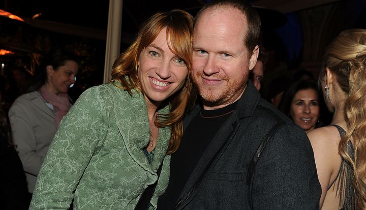 Joss Whedon and then-wife Kai Cole on April 12, 2010 in Los Angeles, California.