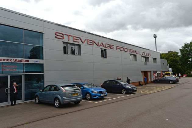 Lamex Stadium, home to Stevenage FC, where the incidents allegedly took place this weekend