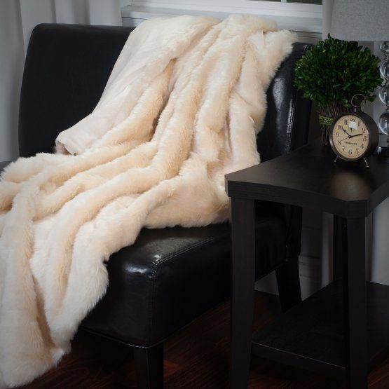 "A faux fur throw is an effortless way to add some luxe to your home. <a href=""https://www.hayneedle.com/product/lavish-h"