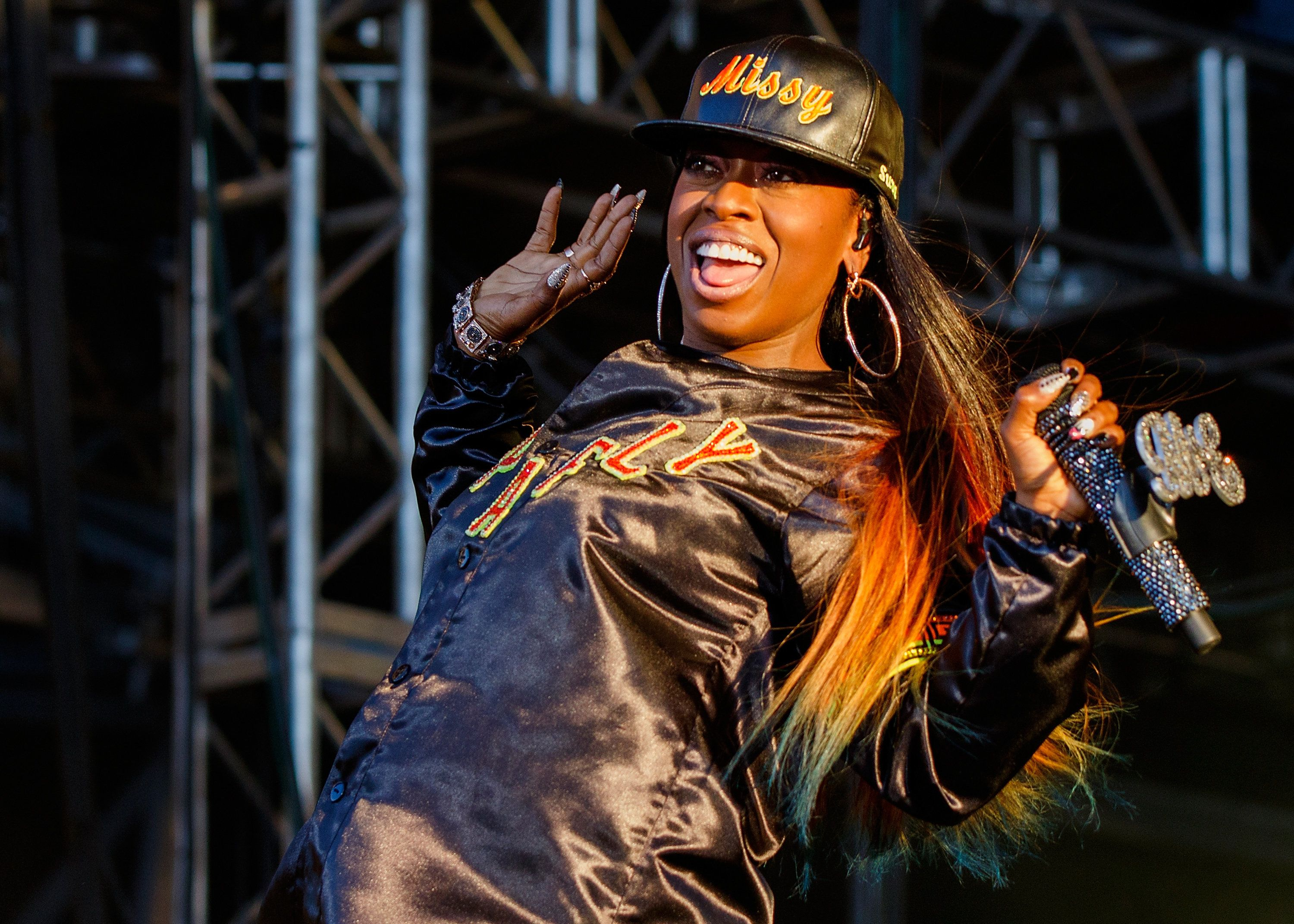 PEMBERTON, BC - JULY 19:  Singer-songwriter Missy Elliott performs onstage during the Pemberton Music Festival on July 19, 2015 in Pemberton, Canada.  (Photo by Andrew Chin/Getty Images)
