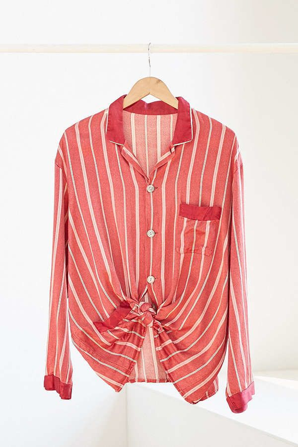 """<a href=""""https://www.urbanoutfitters.com/shop/vintage-red-stripe-silky-pajama-top?category=SEARCHRESULTS&color=000"""" targe"""