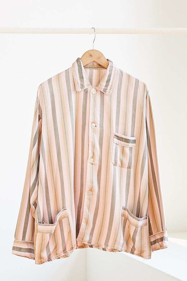 "<a href=""https://www.urbanoutfitters.com/shop/vintage-pink-stripe-silky-pajama-top?category=SEARCHRESULTS&color=000"" targ"