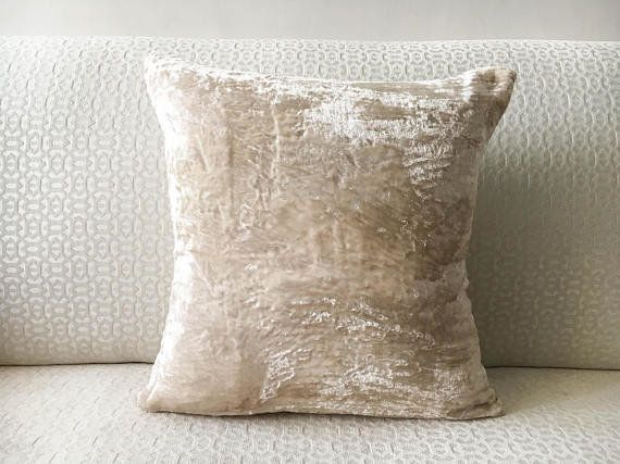 "A simple accent piece, like this velvet pillow cover, can be your standout luxury piece. <a href=""https://www.etsy."