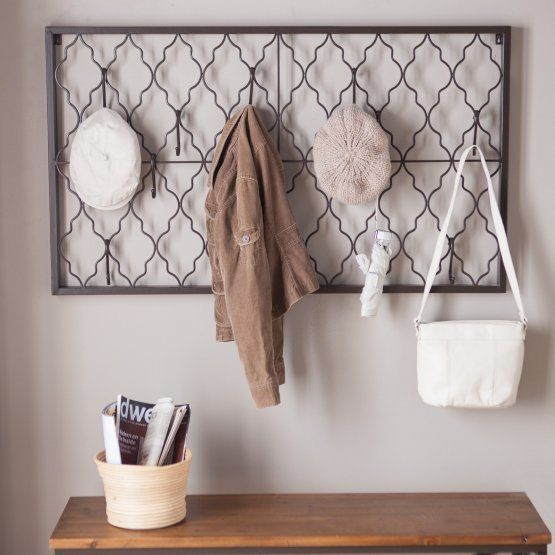 """Stylize your entryway with this intricatewall fixture to display any and all cute accessories.<a href=""""https://ww"""