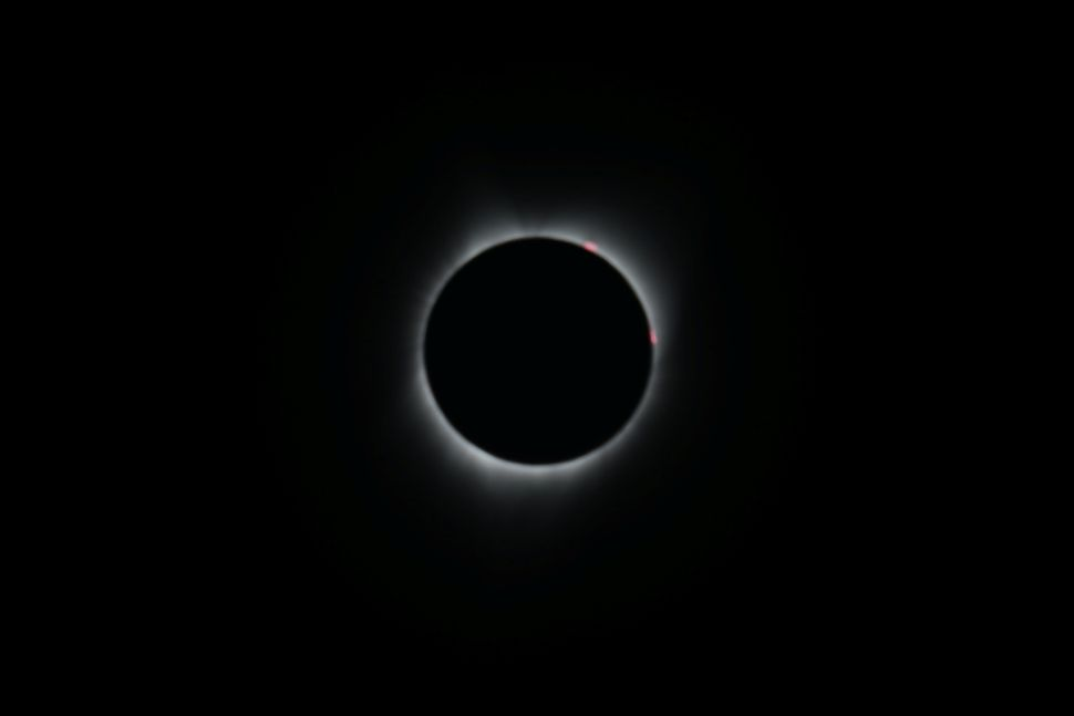 Totality in Depoe Bay, Oregon.