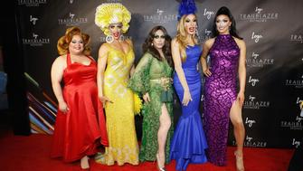 NEW YORK, NY - JUNE 23:  RuPaul's Drag Race All-Stars, Ginger Mini, Alyssa Edwards, Phi Phi O' Hara, Alaska Thunderfuck, and Tatiana attend 2016 Trailblazer Honors at Cathedral of St. John the Divine on June 23, 2016 in New York City.  (Photo by John Lamparski/WireImage)