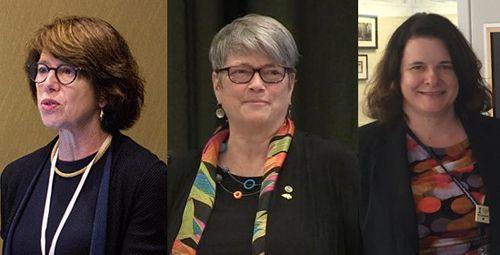 Women design leaders. From left to right: Carol Loewenson, Vaughn Rinner, and Wendy Moeller