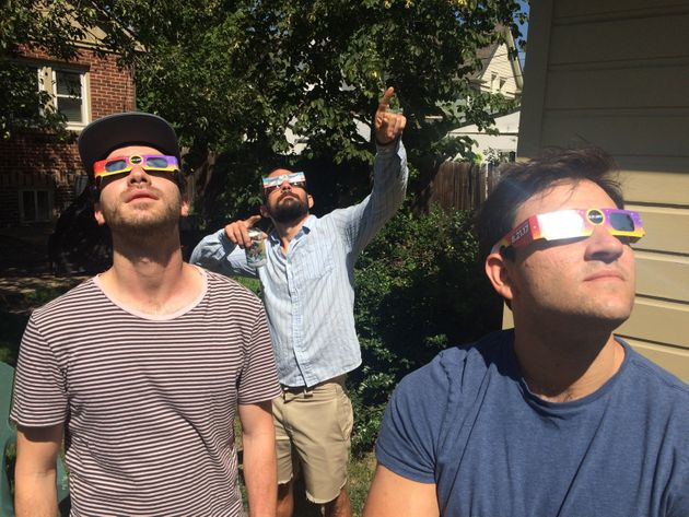 Jordan Van Wyck, 30, at center, described the spectacle in Denver as