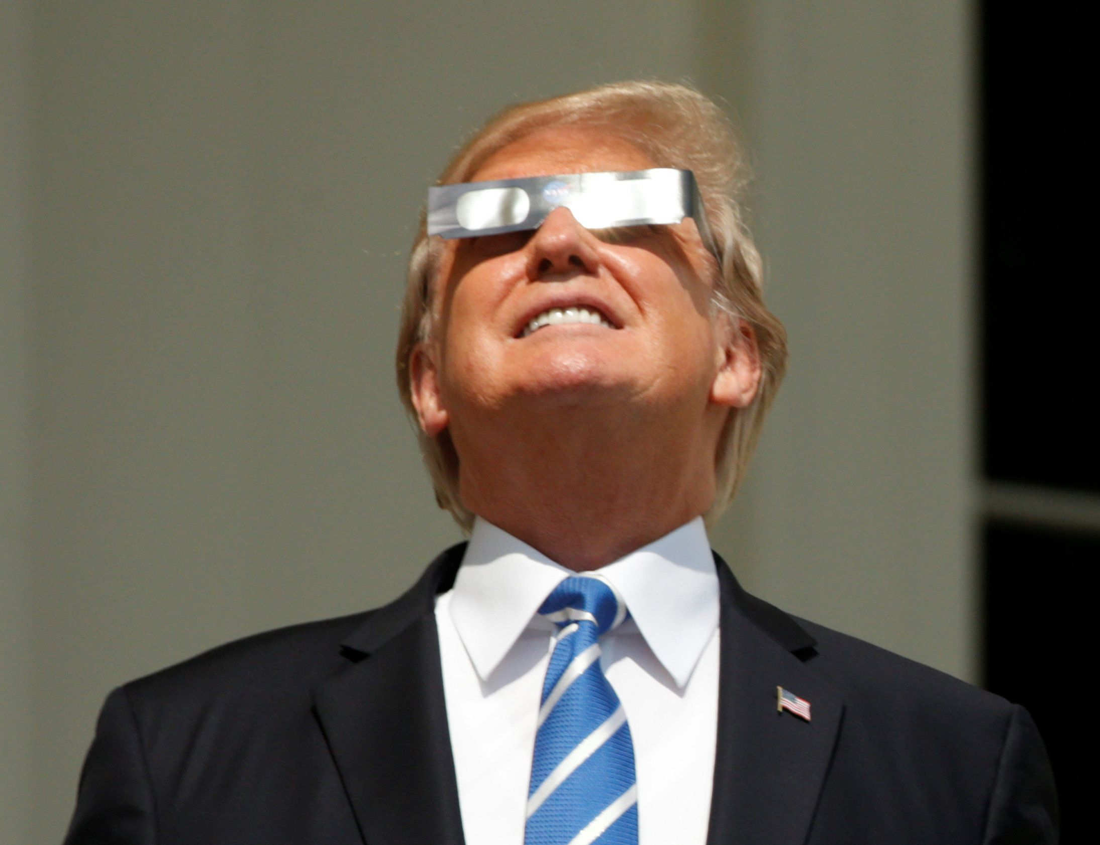 Don't Lie, You Looked At The Eclipse Just Like Donald Trump Did