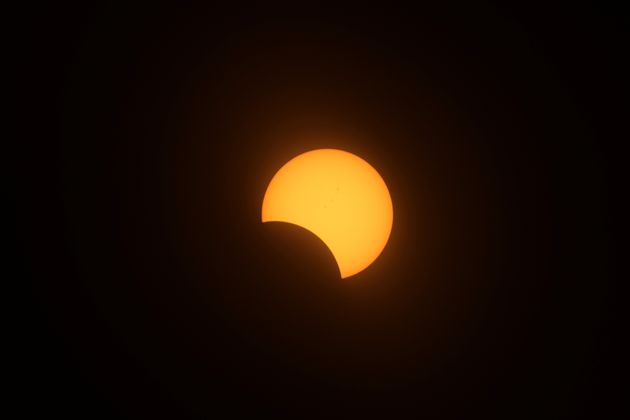 The eclipse as viewed from Depoe Bay,