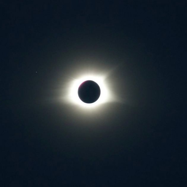 The solar eclipse as seen from South