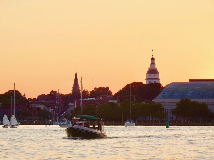Sunset Cruise, Annapolis Electric Boat Rentals