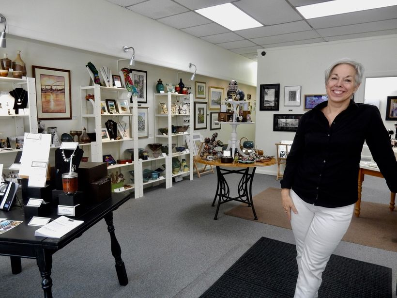 Patti Paulus, owner, the Palette and the Page, Elkton MD