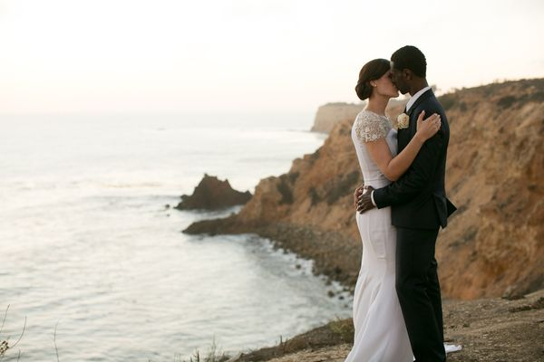 """Jenn and Antonio's ceremony was on top of a cliff overlooking the ocean at Terranea Resort. While the design of the ceremony"