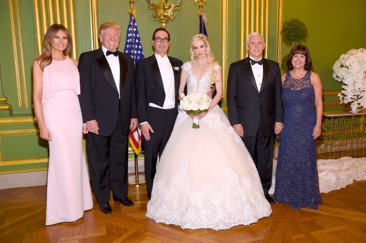 The wedding of Treasury Secretary Steven Mnuchin and actress Louise Linton in June was attended by President Donald Trump and
