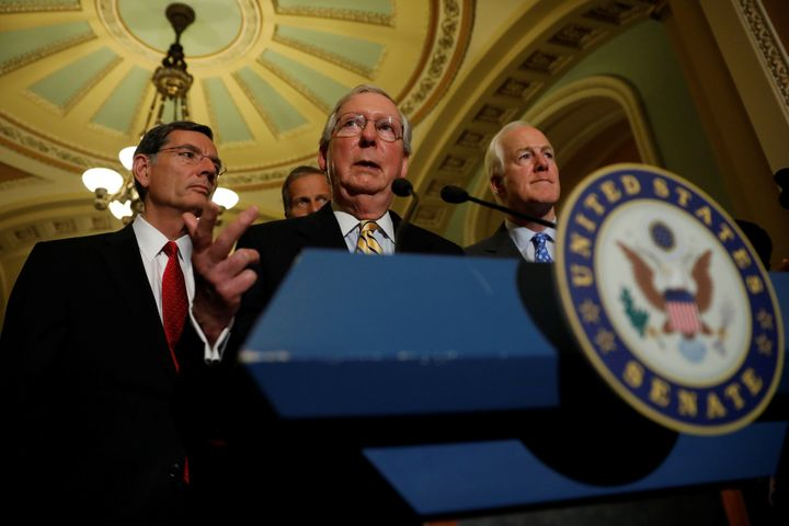 """Senate Majority Leader Mitch McConnell said Mondaythat """"most news is not fake."""""""