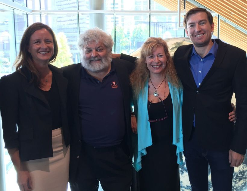 From left to right: co-author Mel Edwards, co-author Ed Freeman, Ellen Auster, and author Adam Sulkowski.