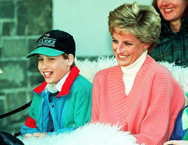 Princess William with his mum Diana, Princess of