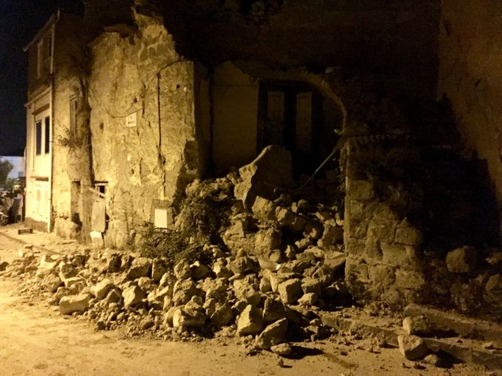 Several buildings collapsed in the 4.0 magnitude quake