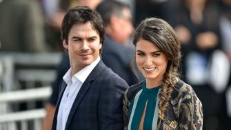 LOS ANGELES, CA - FEBRUARY 27: Ian Somerhalder and Nikki Reed are seen on February 27, 2016 in Los Angeles, California.  (Photo by RB/Bauer-Griffin/GC Images)