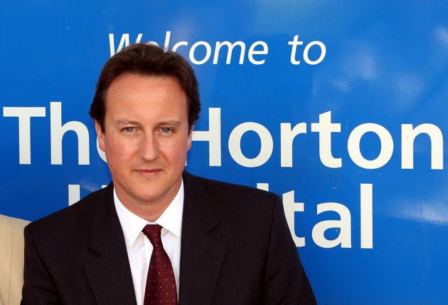 David Cameron as PM visiting Horton