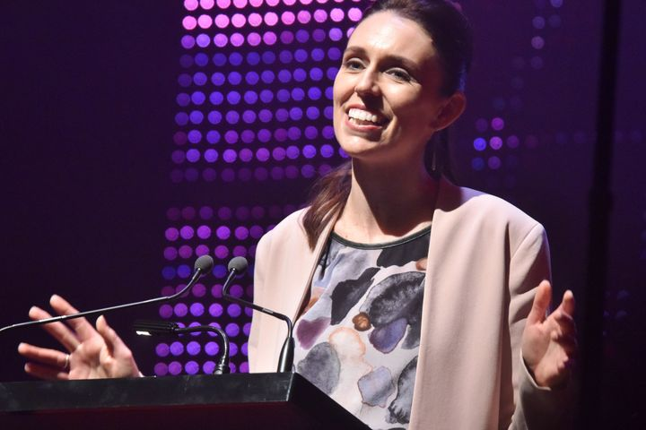 Labour Party leader Jacinda Ardern makes a speech during the official campaign launch at Auckland Town Hall in New Zealand on