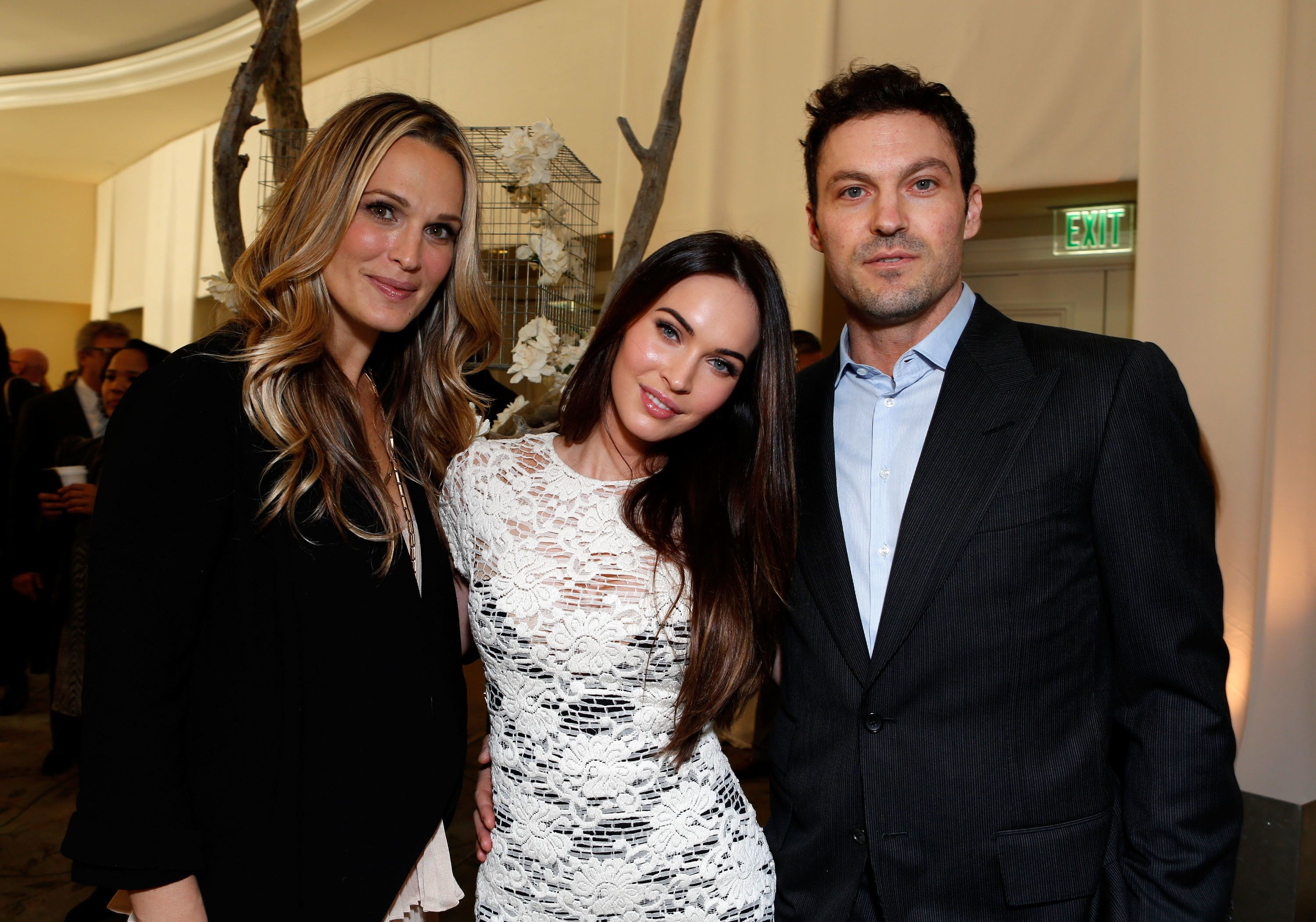 BEVERLY HILLS, CA - DECEMBER 07:  (L-R) Actors Molly Sims, Megan Fox and Brian Austin Green attend the 7th Annual March of Dimes Celebration of Babies, a Hollywood Luncheon, at the Beverly Hills Hotel on December 7, 2012 in Beverly Hills, California.  (Photo by Alexandra Wyman/Getty Images For March Of Dimes)