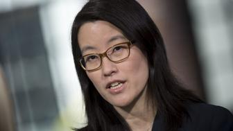 Ellen Pao, partner at Kapor Capital and former venture capitalist at Keiner Perkins Caufield, speaks during a Bloomberg Technology interview in San Francisco, California, U.S., on Thursday, April 20, 2017. Professor Anita Hill and Pao discussed harassment in the workplace, as well as diversity and gender equality. Photographer: David Paul Morris/Bloomberg via Getty Images