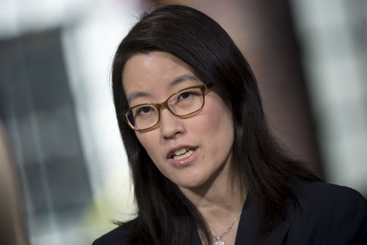 Ellen Pao, partner at Kapor Capital and former venture capitalist at Kleiner Perkins Caufield, speaks in San Francisco on Apr