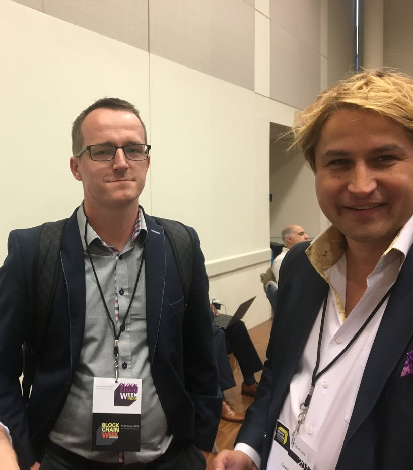 Kamil Przeorski, founder and CEO of Experty.io, and David Drake of LDJ Capital at the BlockchainDC event