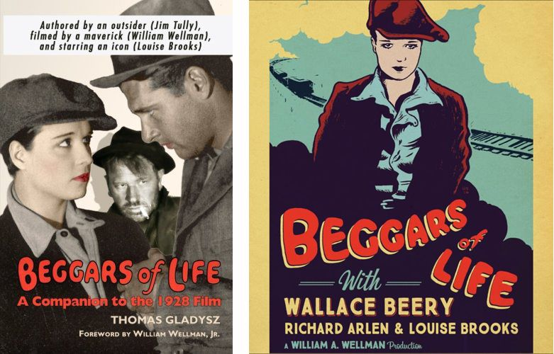 <em>Beggars of Life: A Companion to the 1928 Film</em> (left) & Kino Lorber DVD / Blu-ray (right)