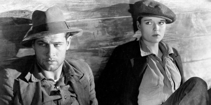 Richard Arlen (left) and Louise Brooks (right) in <em>Beggars of Life</em>