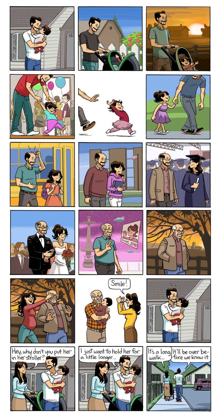 Dan Dougherty's comic strip above captures what it's like to watch your kid grow up.
