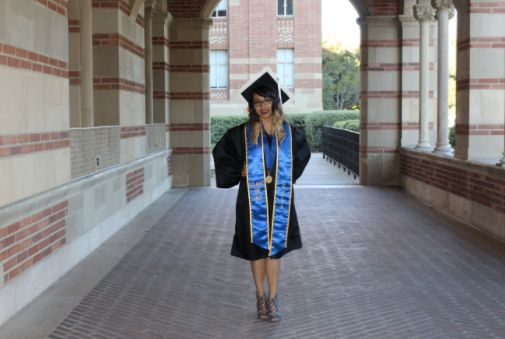 Desiree Martinez, graduation picture taken at UCLA.