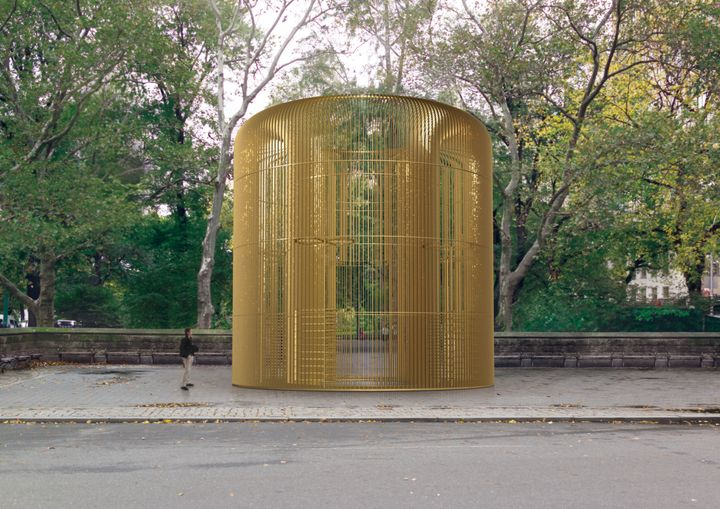 "Rendering of one piece in the multi-part Public Art Fund project ""Ai Weiwei: Good Fences Make Good Neighbors"" at Doris C. Fre"