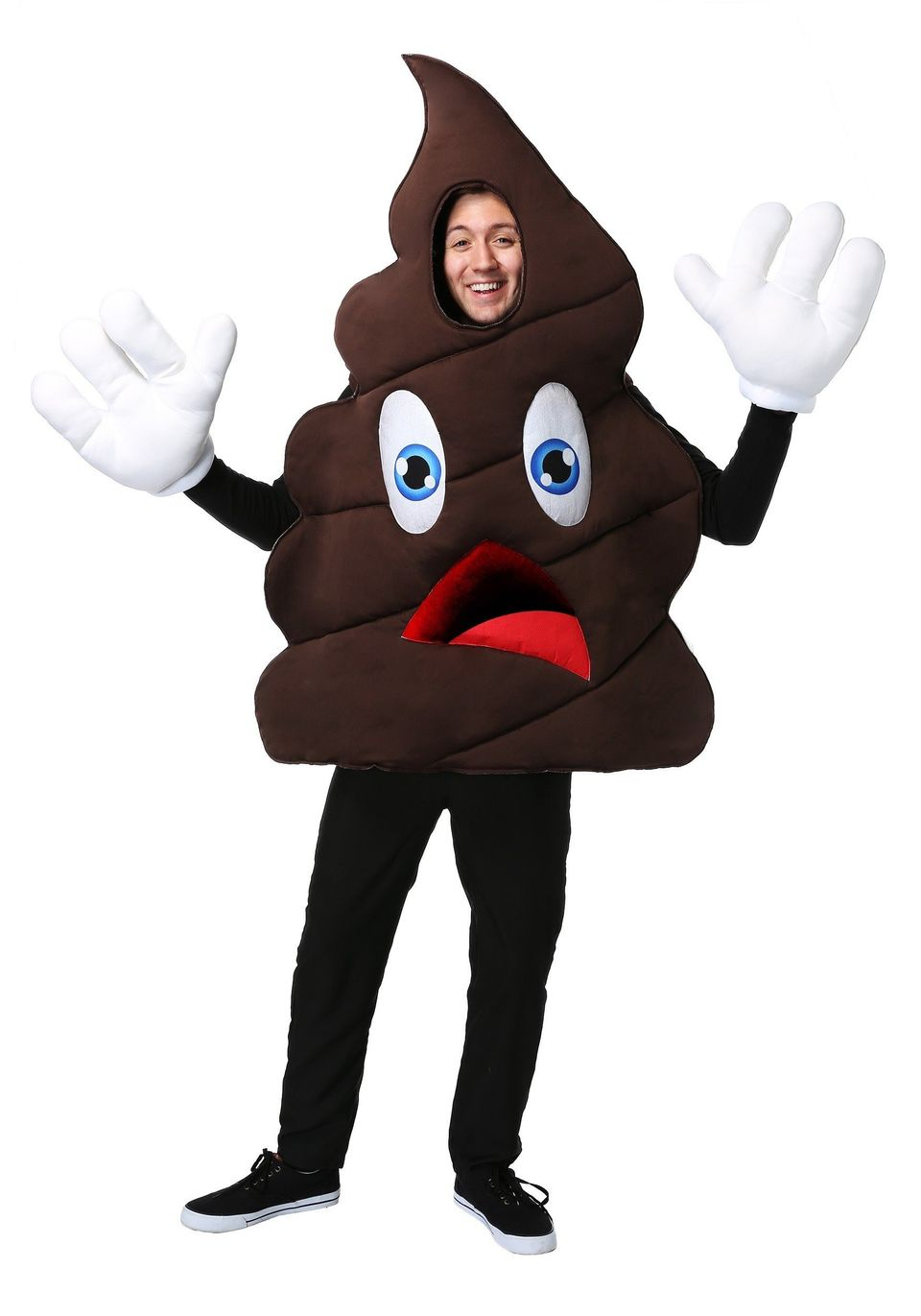 "Sure <a href=""https://www.halloweencostumes.com/happy-poop-costume.html"" target=""_blank"">this costume is the epitome of crap,"
