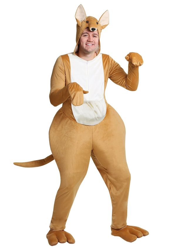 "Yes, this <a href=""https://www.halloweencostumes.com/kangaroo-adult-costume.html"" target=""_blank"">kangaroo costume</a> is rid"