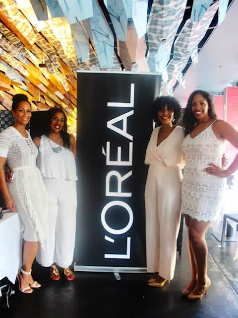 The Bougie Bunch with Desiree Lilly, Corporate Representative for L'Oreal, one of the event's headlining sponsors