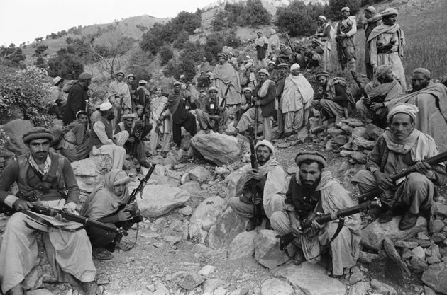 The revolt of the Mujahidins in Afghanistan in April, 1979 - rebels seeking to overthrow the Soviet-supported...