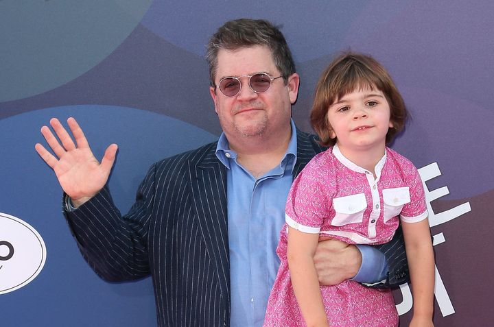 "Patton Oswalt and his daughter attend the ""Inside Out"" premiere June 2015."